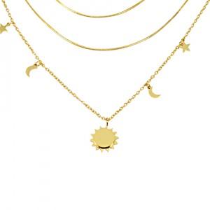 Lidyasteel Altın Renkli Ay Yıldızlı CKO20118