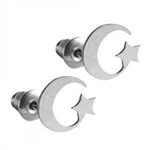 Lidyasteel Ayyıldız Çelik Küpe CKU20127