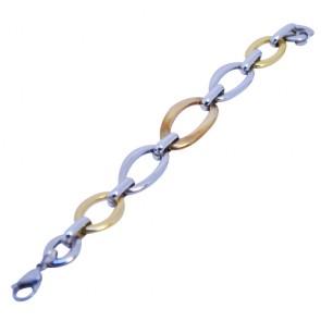 Lidyasteel Çelik Kalın Zincirli Kadın Bileklik CBI2088
