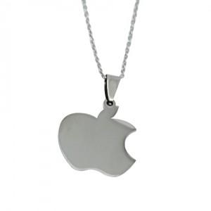 Lidyasteel Gümüş Renk Apple Çelik Kolye CKO20109