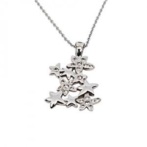 Lidyasteel Gümüş Renk Çelik Kolye CKO20134