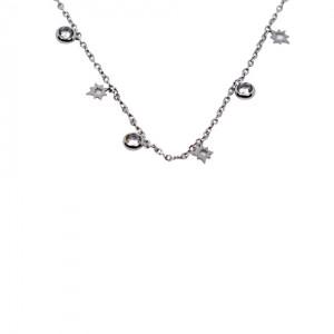 Lidyasteel Gümüş  Renk Çelik Kolye CKO2090