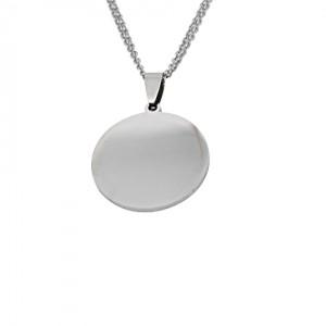 Lidyasteel Gümüş Renk Yazılabilir Künye Çelik Kolye CKO2042