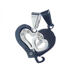 Lidyasteel İkili Aşk İksiri Çelik Kolyeucu CKO20202